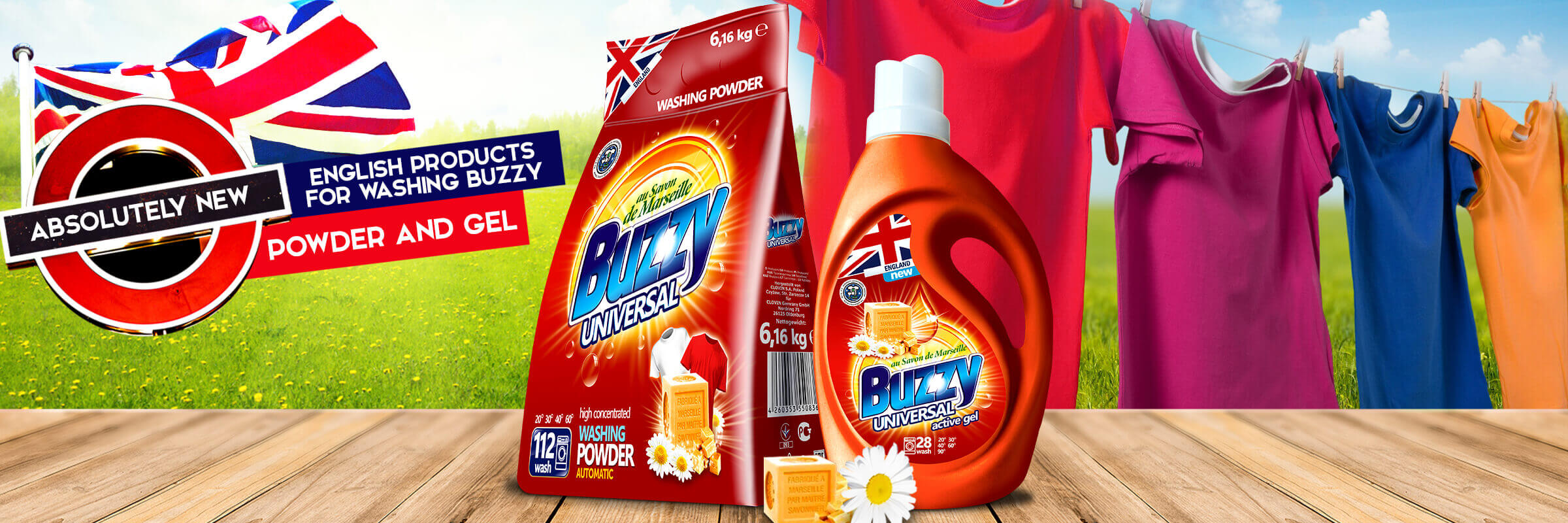 New offer – English washing agents Buzzy!